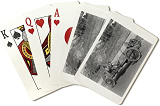 Mercer racing car Photograph (Playing Card Deck - 52 Card Poker Size with Jokers)