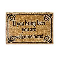 Paillasson en fibres de coco marron avec inscription en anglais humoristique - Pour vos invités, afin de leur montrer qu'ils sont les bienvenus chez vous Le paillasson est fait en fibres de coco naturelles – Ainsi ce tapis est durable et robuste mais...
