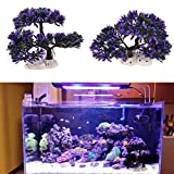 Xiaolanwelc Artificial Aquarium Decoration Purple Plants Tree Ornaments for Fish Tank Decoration Landscape Acquatic Pets Supplies