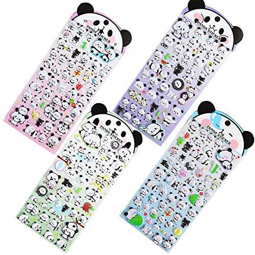 Holo Cute Karikatur Panda Schaum Aufkleber Kinder Dreidimensional Niedlich Aufkleber Farbe zufällig