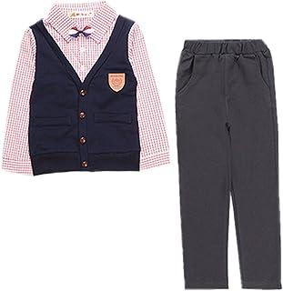 (チェリーレッド) CherryRed 男の子 イギリス風 シャツ ズボン 上下セット