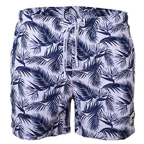 Joop! Herren Badeshort Coconut Beach - Badehose, Jeans Logo, Muster (3X-Large, Blau)