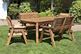 Samuel ALEXANDER Hand Made 6 Seater <span class='highlight'>Chunky</span> Rustic <span class='highlight'>Wood</span>en <span class='highlight'>Garden</span> <span class='highlight'>Furniture</span> Table and Chairs Set