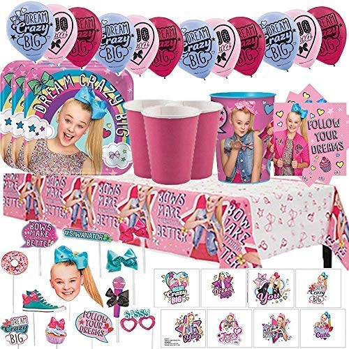 Find Cheap Another Dream JoJo Siwa MEGA Birthday Party Pack for 16 with Plates, Napkins, Cups, Table...
