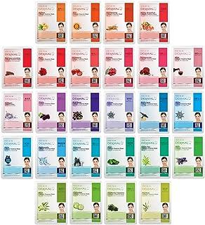 ورقة قناع الوجه الكامل للوجه من ديرمال 26 أحمر وأخضر كومبو كومبو كولاجين إيسنس - مجموعة Ultimate Supreme لكل حالة بشرة من ...
