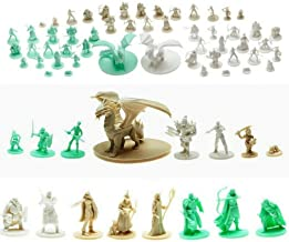 Mythical Heroes Mini Figure Set for RPGs - 69 Pcs in 16 Designs - Heroes and Monsters - Suitable Size for DND