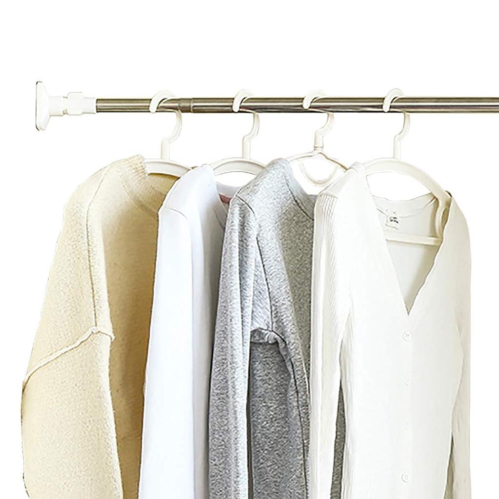 感性オセアニアかんたんステンレスラックハンガー仕上げスチール寮の服ロッドクローゼットのハードウェアリトラクタブル服レールバスルームポールクローゼットポール衣類、無パンチングデザインの長さ調節可能 (Size : 92-140CM)