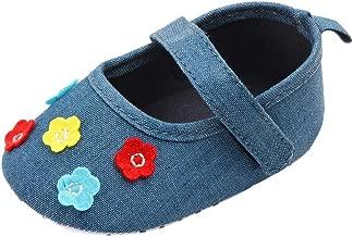 Newborn Baby Cute Girls Canvas Flower Single First Walker Soft Sole Shoes Pandaie Baby Boy /& Girl Shoes