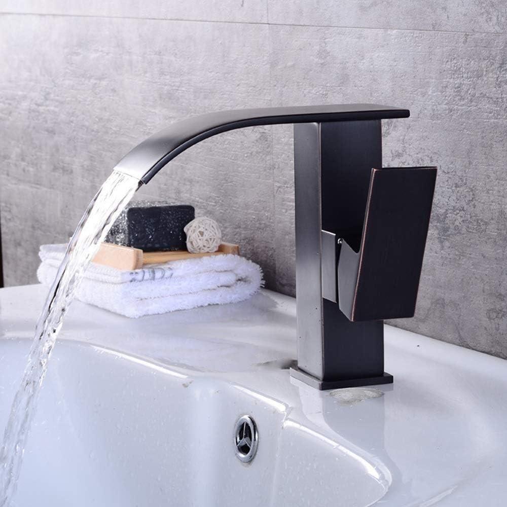 WEI-LUONG Modern Retro Copper Bathroom Max 76% OFF Faucet Atlanta Mall Wash Black