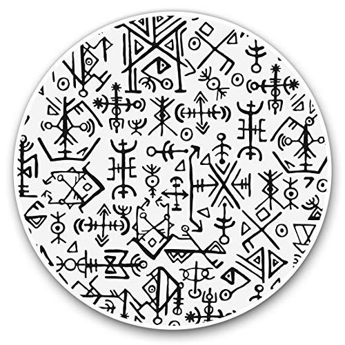 Pegatinas de vinilo (juego de 2) 7,5 cm - Símbolos vikingos islandeses #2507