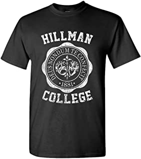 88e51bf08d5d57 The Goozler Hillman College - Retro 80s Sitcom tv - Mens Cotton T-Shirt