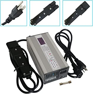 48V 5A Battery Charger for Yamaha Golf Cart G19 G22 SCR4817172 CRG-419 Club Car, with 2 Pin Plug, LED Display, 48 Volt 5 Amp