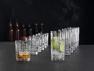 Spiegelau & Nachtmann, 12-teiliges Becher-Set, 6x Tumbler Square 345 ml, 6x Longdrink Square 445 ml, Kristallglas, Highland, 101754