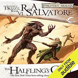 The Halfling's Gem     Legend of Drizzt: Icewind Dale Trilogy, Book 3              Written by:                                                                                                                                 R. A. Salvatore                               Narrated by:                                                                                                                                 Victor Bevine                      Length: 11 hrs and 21 mins     46 ratings     Overall 4.7