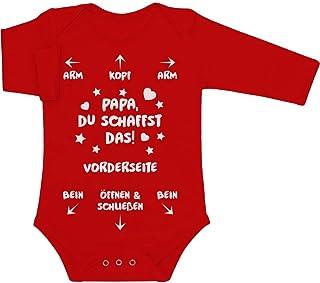 Shirtgeil Papa Du Schaffst Das - Witziges Strampler Motiv für Väter Baby Body Kurzarm-Body