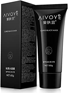 AFY AIVOYE Suction Black Mask Deep Cleansing Face Mask Tearing Resist Oily Skin Strawberry Nose Black Mud Face mask (pack of 1 boxes)