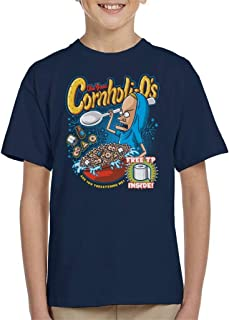 Cornholios Cereal Beavis and Butt Head Kid's T-Shirt