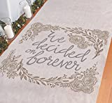 We Decided on Forever Wedding Aisle Runner - 100 feet Long - Beautiful for Rustic and Farm...