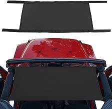 JeCar Car Roof Hammock for Jeep Wrangler 1997-2019 TJ JK JKU JL JLU(Black)