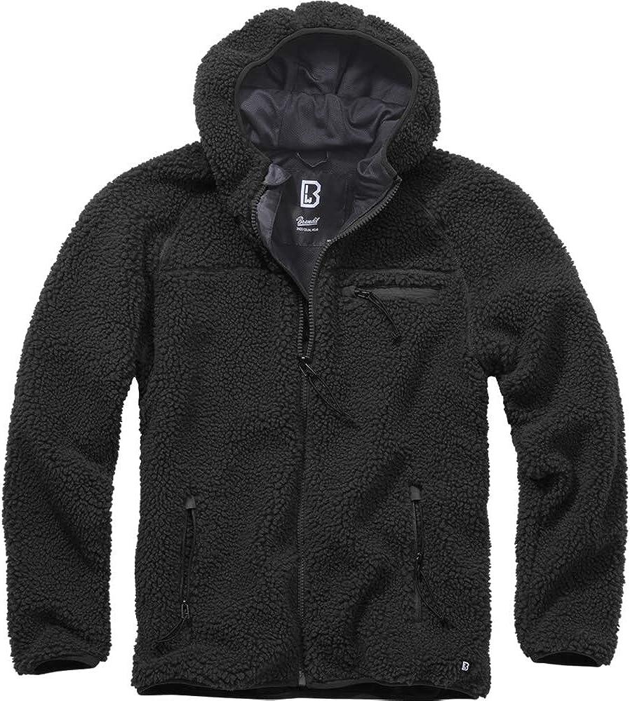 Brandit Men Ranking TOP6 Fleece Jacket Teddyfleece Color:Black Size: Worker Popularity