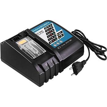 Cargador con pantalla LED 14.4V-18V 7A Cargador de repuesto bater/ía de iones de litio para Makita BL1860 BL1850 BL1845 BL1840 BL1835 BL1830 BL1815 BL1430 BL1440 BL1450