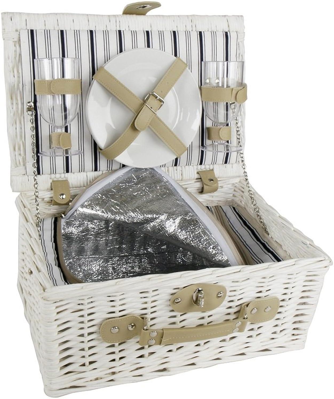 Picknickkorb für Zwei Zwei Zwei - Weidenkorb - Hochzeitsgeschenk - Geschenk für Paare & Verliebte (ohne Gravur) B015IV9KIS  Abholung in der Boutique bcc089