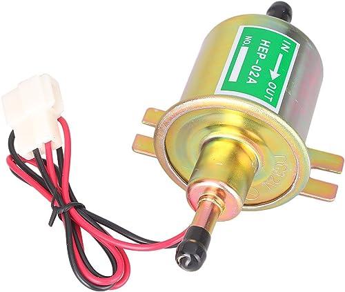 high quality Mallofusa Universal sale Electric Fuel Pump popular 12V Gas Diesel Inline Low Pressure Fuel Pump HEP-02A online sale