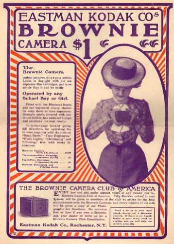 World of Art Vintage fotografía Eastman Kodak Brownie cámara para 150G/m2, A3Satinado, diseño de dólares Póster
