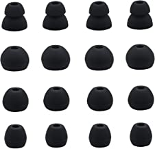 JNSA Black Replacement Earbud Tips Eartips Compatible with Powerbeats Pro and BeatsX Headphones, 8 Pairs with 4 Size Options, Ear Tip for powerbeats pro Black