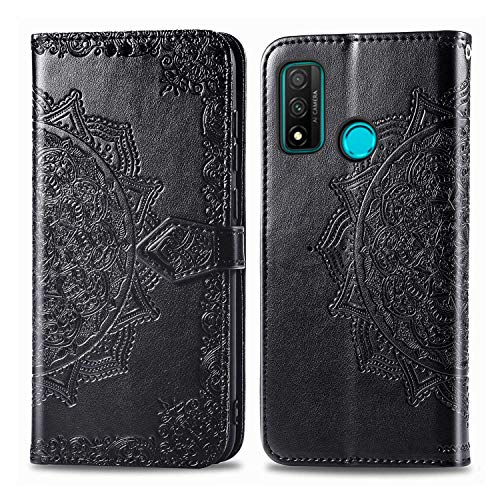 Bear Village Hülle für Huawei Nova Lite 3 Plus, PU Lederhülle Handyhülle für Huawei Nova Lite 3 Plus, Brieftasche Kratzfestes Magnet Handytasche mit Kartenfach, Schwarz