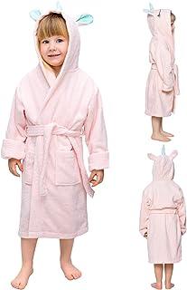 Albornoz de baño niño y niña Unicornio - Sin Productos Químicos (Oeko Tex), 100% Algodón - Bata de Baño Bebé y Niños - Albornoz con Capucha Unicornio - Bata niños y niñas