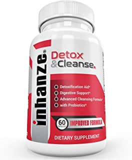 Detox & Cleanse | Total Body Detox & Colon Cleanse | Probiotics | 10 3-Day Cleanses | Flush Waste & Toxins | Weight Loss Support | 19 Herbs; Psyllium, Cascara, Senna, Buckthorn, Fennel, Aloe | 60Caps