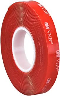 3M VHB Heavy Duty Mounting Tape 4910, Clear, 0.25 in width x 5 yd length (1 Roll)