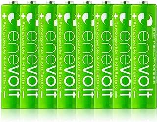 enevolt(エネボルト) 単4形充電池 900mAh ニッケル水素充電池 単4 充電池 3R SYSTEMS 8本セット