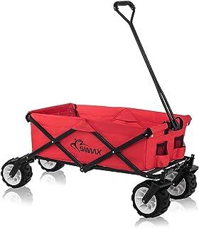 comprar comparacion SAMAX Carrito de Off-Road a Mano Plegable Coaster Carretillas de Jardín Playa de Carro Offroad Rojo - Diversas Versiones