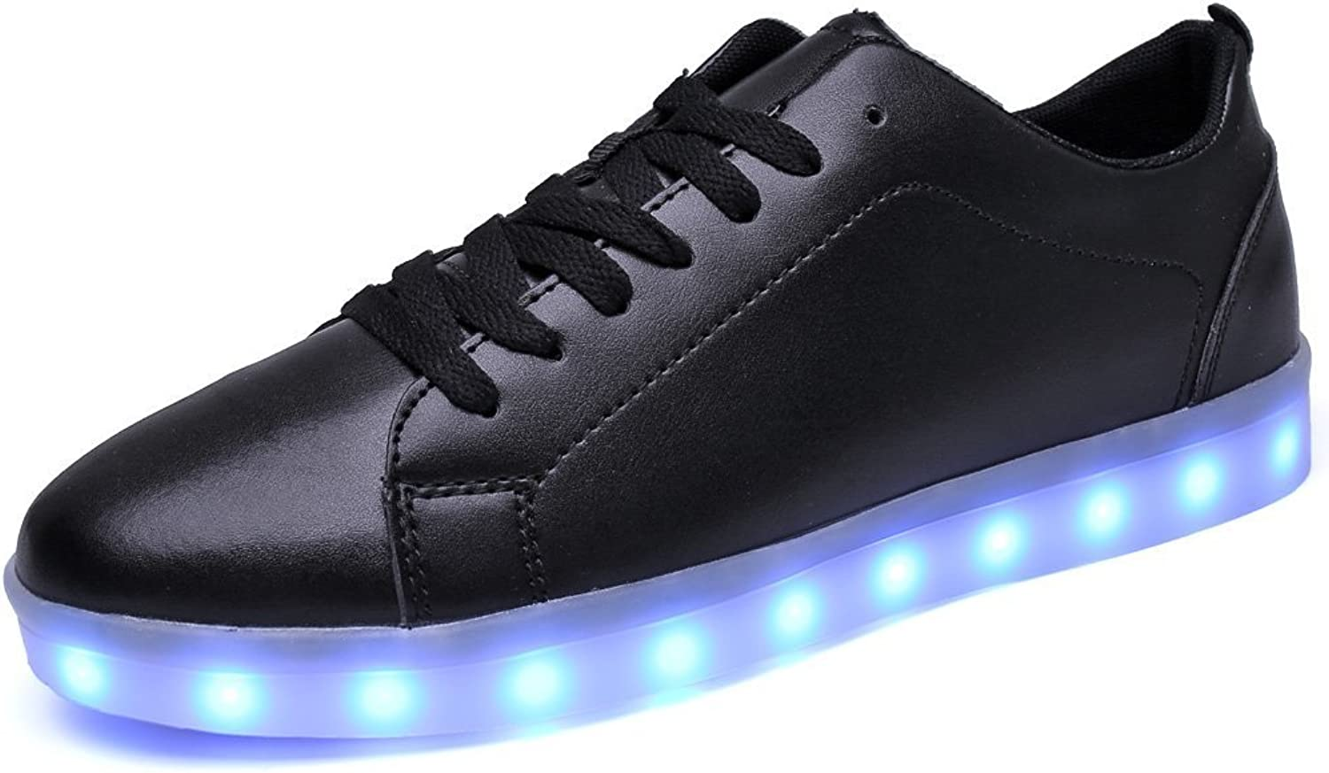Pit4tk 2017 Fashionable LED shoes USB Charging Light Up Glow shoes Sneakers Flashing Luminous