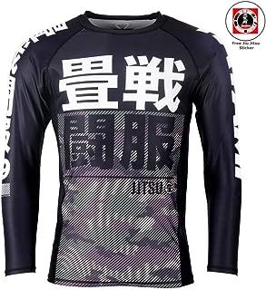 Tatami 50//50 BJJ Rash Guard Long Sleeve Jiu Jitsu MMA Compression Gym Mens