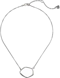 Open Pave Pendant Necklace 16""