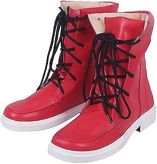 VidaSensilla My Hero Academia Unisexe Chaussures Rouge PU Bottes Izuku Midoriya Cosplay Casual Chaussures en Cuir Boot Cos...