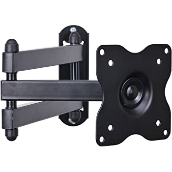 """VideoSecu ML12B TV LCD Monitor Wall Mount Full Motion 15 inch Extension Arm Articulating Tilt Swivel for Most 19""""-32"""", Some Models up to 47"""", LED TV Flat Panel Screen with VESA 100x100, 75x75 1KX"""