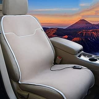 PsSpCo Car Heated Seat Cushion Universal 12V Automobile Warmer Heating Pad - Winter Vehicle Accessory,Seat,C2