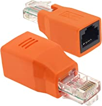 Insten 2 Packs Orange RJ45 M/F Crossover Adapter [30R3-X01-MF]