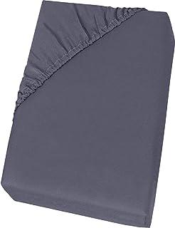 Nifogo Araps Housse, Drap de Lit , Linge de Lit pour Matelas, 100% Coton (Gris, 150_x_200_x_30cm)