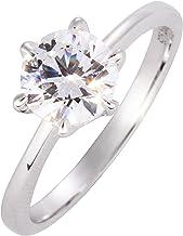 プロポーズリング 婚約指輪 シルバー925 キュービックジルコニア エンゲージリング フリーサイズ 7号