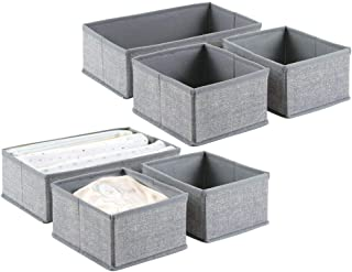 mDesign boîte de rangement (lot de 6) – 6 corbeilles de rangement de 2 dimensions différentes – box de rangement universel...