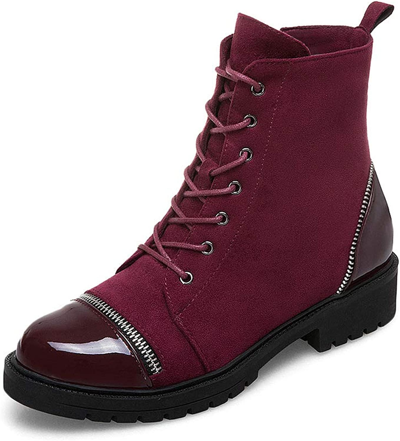 Wetkiss Latest Women Military Bootie Flat Combat Ankle Boots Casual Woman shoes Autumn Winter Boot Footwear