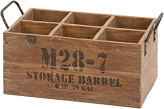 Deco 79 51662 Wine Crate Suitable for Your Home Bar, One Size, Natural Wood Brown