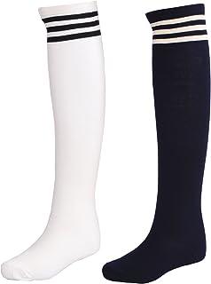 Littleforbig Stripe Tube Dresses Over The Knee Thigh High Stockings Cosplay Socks