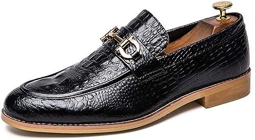 Dilunsizrf Hommes 47 Grand Ensemble de de Chaussures Mode Cuir Chaussures Hommes Chaussures Sauvage,noir,42