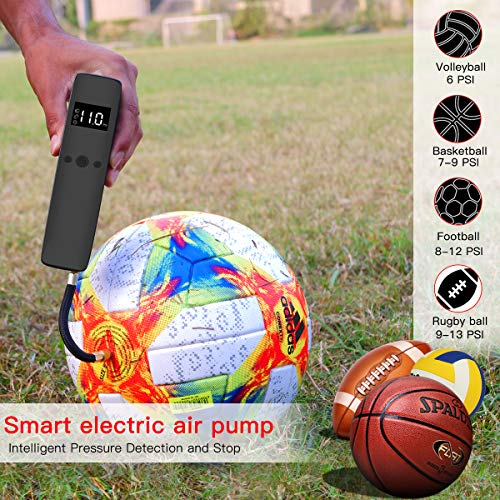 Cadrim Electric Ball Pump, Football Air Pumps Automatic Portable Air Compressor Pump Rechargeable with 2 Needles and 1…